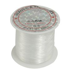 [Visit to Buy] Good deal Beading Thread 0.3mm Dia. Clear Nylon Fishing LIne Spool 17 Lbs #Advertisement