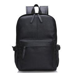 Oil Wax Leather Backpack Men Travel Backpack Western Design School Backpack