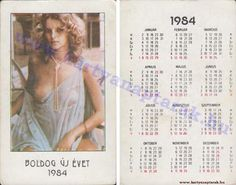 Pocket Calendar, High Energy, Illustrations And Posters, Vintage Ads, Hungary, Blond, Pin Up, The Past, Sexy Women