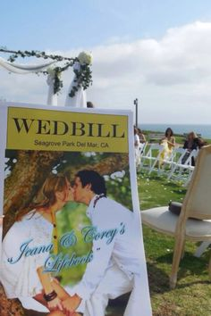 Playbill wedding programs! Include a headshot and bio of wedding party...you won't end up with extras though because everyone takes them as souvenirs from your special day...it keeps guests occupied while waiting for your arrival, and helps them get to know who's who!