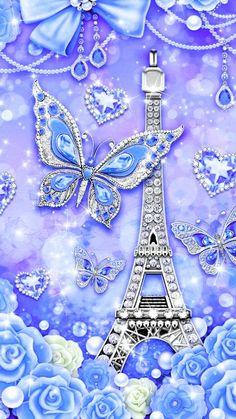 By Artist Unknown. Bling Wallpaper, Cute Galaxy Wallpaper, Diamond Wallpaper, Paris Wallpaper, Cute Wallpaper For Phone, Flower Phone Wallpaper, Wallpaper Gallery, Heart Wallpaper, Cute Wallpaper Backgrounds