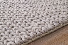 nuLOOM Chunky Woolen Cable Light Gray Area Rug & Reviews   AllModern
