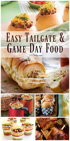 football party food We've gathered the most delicious quick and easy tailgating and game day foods we could find. Easy ideas that will win over your crowd, every time! Healthy Superbowl Snacks, Game Day Snacks, Game Day Food, Game Day Appetizers, Tailgate Appetizers, Game Day Recipes, Healthy Football Food, Easy Party Recipes, Tailgate Sandwiches