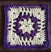 Flower Puff Square - via @Craftsy