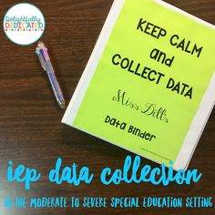 delightfully dedicated : IEP Data Collection in the Moderate to Severe Special E. delightfully dedicated : IEP Data Collection in the . Unique Learning System, Data Binders, Organization Skills, Classroom Organization, Classroom Ideas, Autism Teaching, Was Ist Pinterest, Special Needs Students, Preschool Special Education