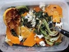 Make-Ahead Grilled Escarole Salad with Citrus, Squash and Ricotta
