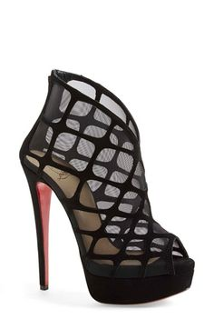 Christian Louboutin 'Altarakna' Peep Toe Platform Bootie available at #Nordstrom