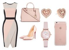 """""""Date night"""" by tamiajeanty on Polyvore featuring Miss Selfridge, Christian Louboutin, Michael Kors and Emporio Armani"""