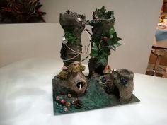 Elf castle recycled plastic papier mache  #papier_mache #machegioia #recycled_crafts http://www.machegioia.net/elf-castle-recycled-plastic-papier-mache/