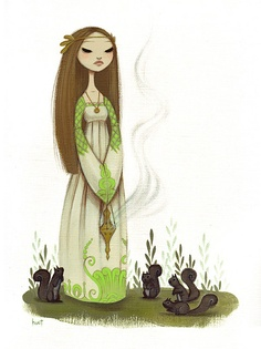 A Vigil for Greener Times by Krista Huot ~ I love all of her stuff - it's amazing!