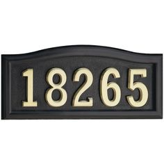 CANTERBURY Address Plaque Lawn Marker House Sign Numbers wall Custom Made order