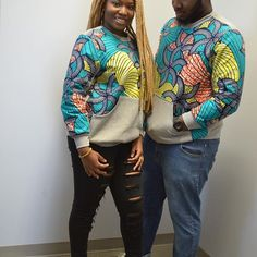 Latest African fashion Ankara kitenge African women dresses African prints African men's fashion Nigerian style Ghanaian fashion ankara sweatshirts ankara hoodies outfit of the day Couples African Outfits, African Dresses For Women, African Print Dresses, Couple Outfits, African Attire, African Wear, African Fashion Dresses, African Women, African Prints