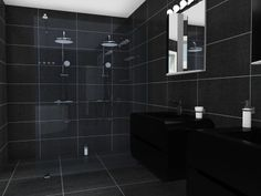 Winning Design --3D floor plan for a luxury bathroom with specific view of glass dual shower, designed by Arnulf Bye in Bademiljø's bathroom design competition powered by RoomSketcher.  See all the top designs from the contest:  http://www.roomsketcher.com/blog/bademiljo-bathroom-design-competition-powered-by-roomsketcher/  #bathroom #floorplan #contest #design #interiordesign