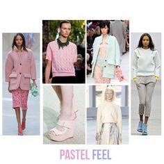 PASTEL FEEL: Estos colores suaves se impondrán en las calles, preferiblemente en cortes y líneas simples con hombros redondeados. #FashionTrend #Pastel #Colors