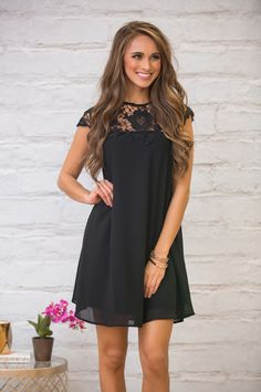 You can never go wrong with a classic little black dress - and this addition to our collection features some gorgeous lace details that make this a must-have!