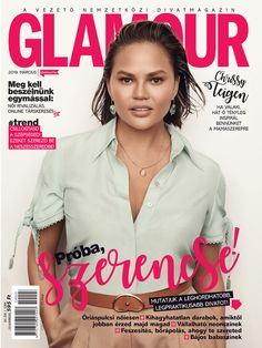 Chrissy Teigen. March 2019 issue. March, Glamour, Cover, Blankets, Mars