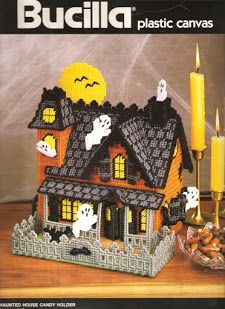 Bucilla Haunted House 1/9   I made one of these years ago but have not been able to find the pattern! Although the pics are small, here it is! Now if I can figure out how to read the things!