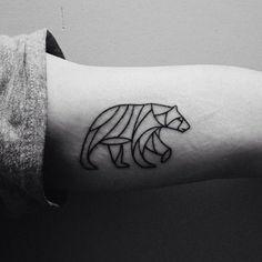 http://tattoo-ideas.us/wp-content/uploads/2013/11/Geometric-Bear-Tattoo.jpg Geometric Bear Tattoo #Animaltattoos, #Armtattoos, #BlackInk, #Minimalistic