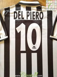 2baf946d442 1995 96 Juventus Home Serie A Football Shirt Del Piero  10 (XL)