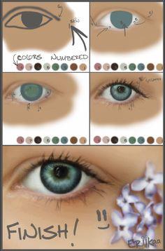 Eye Painting Tutorial by eriikaa.deviantart.com