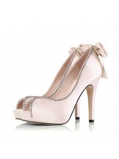 Outstanding Pink Beading Chains Stiletto Heel Prom Shoes