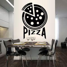 Tatuajes de pared de Vinilo Pizzeria Pizza Italia Cocina Comida inscripción…