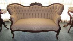 Antique Carved Victorian Settee