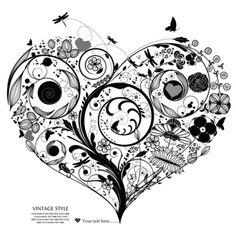heart shape vector - Google Search
