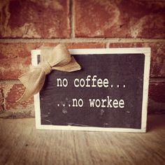 Wood Coffee Sign Kit