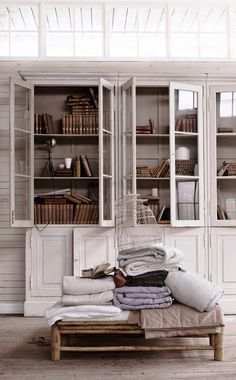 greige: interior design ideas and inspiration for the transitional home : simple greige storage pieces...