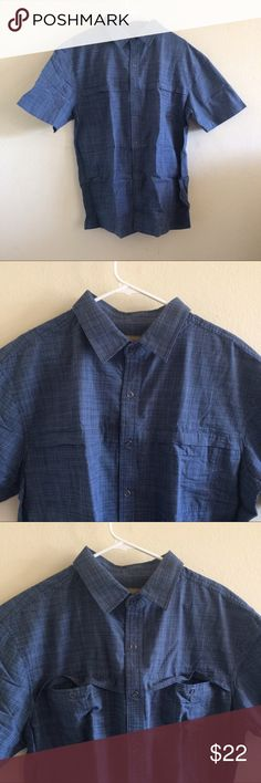 Cross hatch buttoned shirt Scandia Woods Crosshatch snap button shirt (short sleeved) with snap front pockets. Brand new, never worn. I bought it for my boyfriend and he didn't like it. Great gift for Father's Day!   Size: L Length: 30.5 in. Armpit to armpit (laid flat): 25 in.  60% cotton, 40% polyester Scandia Woods Shirts Casual Button Down Shirts