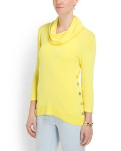 Cowl+Neck+Button+Detail+Top