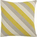 """Diagonal Yellow 20"""" Pillow - Crate and Barrel - Swirls your inspiration colors!"""