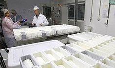 El lema de la empresa Queserías del Tiétar, ubicada en La Adrada (Ávila), 'El queso hecho arte',