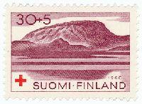 Lappi - Saanatunturi. Postimerkki 1960.