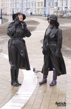 club rubberboots and waders 4 eroclubs. Heavy Rubber, Black Rubber, Black Rain Boots, Rubber Raincoats, Rain Gear, My Black, Girls Wear, Canada Goose Jackets, Black Women