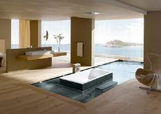 baño moderno con bañera de diseño