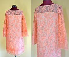 1960s Vintage Paul Stanley New York Lace Sheath Dress
