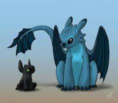 Stich as Toothless and Toothless as Stich
