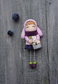 Items similar to Hydrangea flower brooch personalization is possible pin, birthday present for mom on Etsy Polymer Clay Dolls, Polymer Clay Crafts, Brooches Handmade, Handmade Toys, Baby Mobile Felt, Birthday Presents For Mom, Fabric Brooch, Biscuit, Clay Figurine