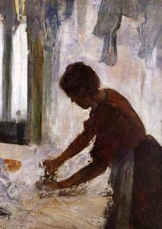 """""""Woman Ironing""""  Edgar Degas me and my sister n my nana went and saw his work in a musem. i loved it! ht"""