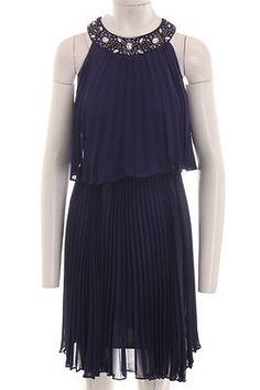 S.L. FASHION $109 NEW 9753 Purple Embellished Pleated Dress 6   eBay