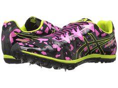 8c1671985e7 ASICS Cross Freak 2 Women s Track Shoes Hot Pink Black Neon Lime Womens  Track