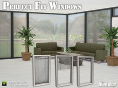 Do you have the problem of non fittable blinds? Need any modern window? Or both? This is your change to fullfill you sims dreams. A set of 12 modern windows with blinds. The windows also have the...
