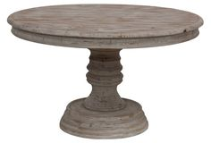 """Valyn 51"""" Round Dining Table, Whitewash"""