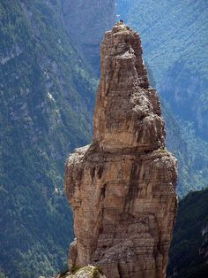 At the top of Friulian Dolomites, Italy