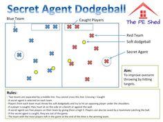 Secret Agent Dodgeball PE Game