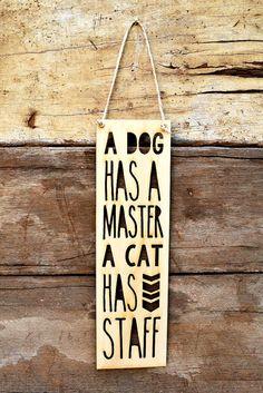 Laser Cut Dog & Cat Themed Pennant Wooden sign 7 by MissBoldDesign