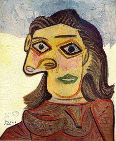 Tête de femme - Picasso - 1939