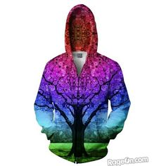 : \/\/ {O} \/\/ !! ::NEW!   STAR TREE ZIP-UP HOODIE designed by LARRY CARLSON Buy now at : www.larrycarlson.rageon.com